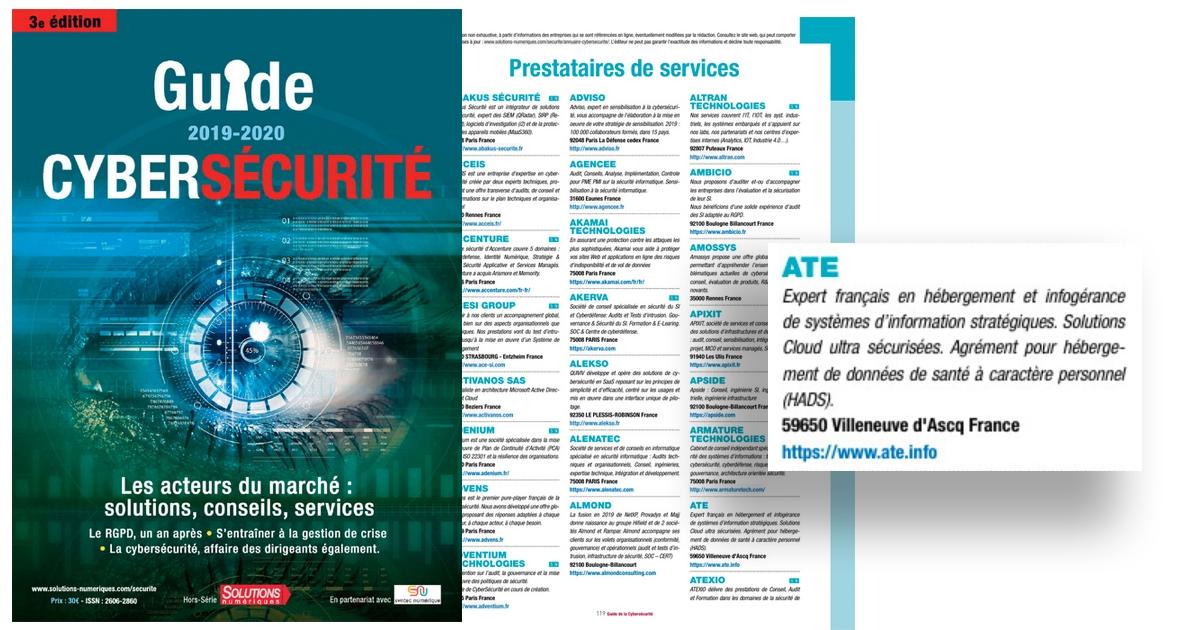 ATE dans le Guide de la Cybersécurité 2019-2020