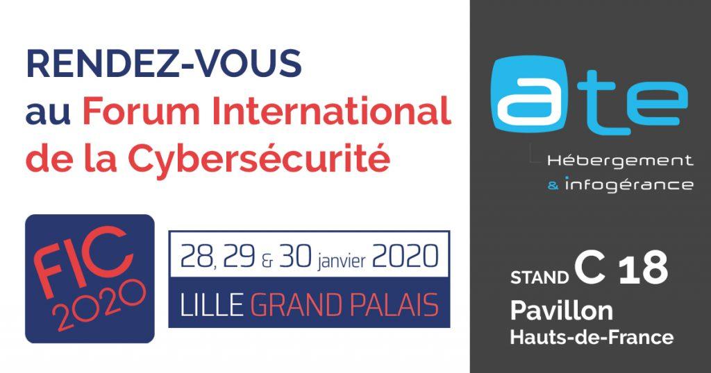 ATE partenaire Forum International de la Cybersécurité FIC 2020