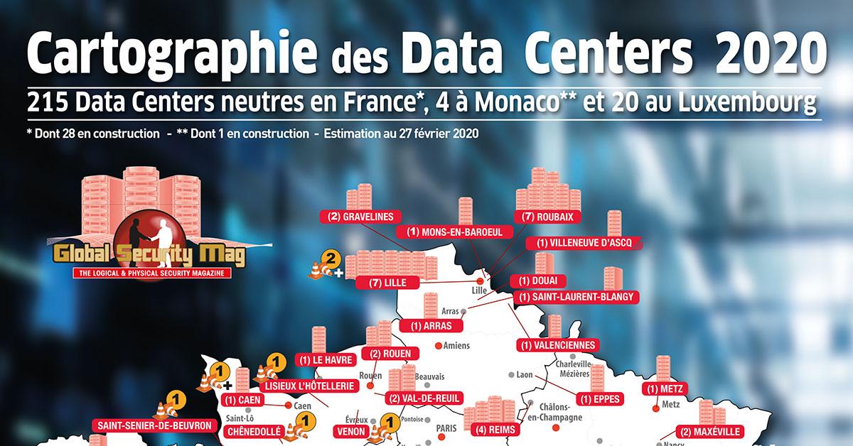 La cartographie 2020 des datacenters est sortie