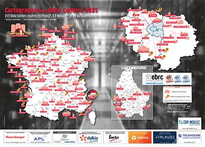 Cartographie des datacenters neutres en France, à Monaco et au Luxembourg 2021