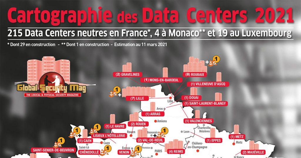 Cartographie des datacenters en France 2021
