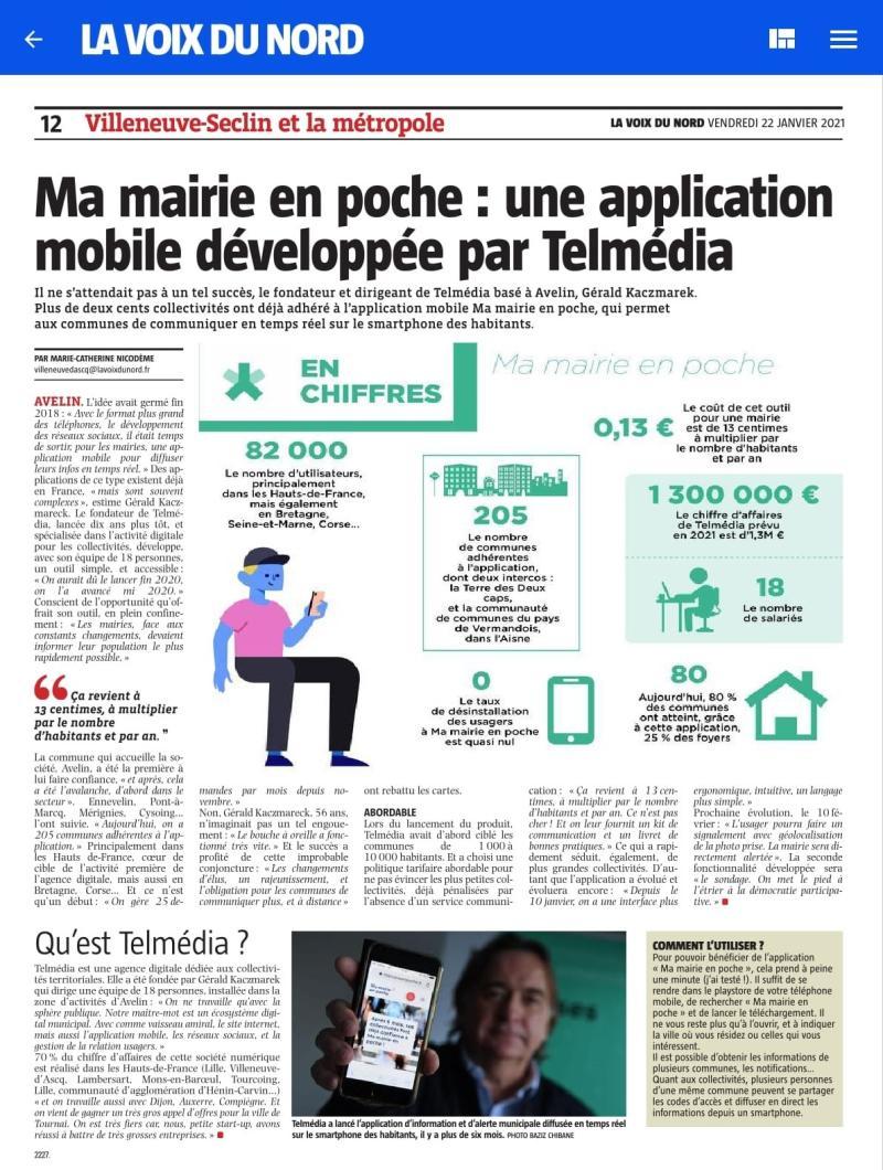Ma mairie en poche : une application mobile développée par Telmédia